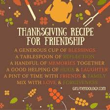 thanksgiving recipe for friendship gratitude quotes thanksgiving