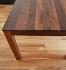 How To Clean Dining Room Chairs Custom Made Solid Walnut Dining Table Home Dining Table Chairs