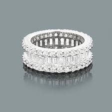baguette diamond band diamond eternity rings 14k baguette diamond band 5 60ct