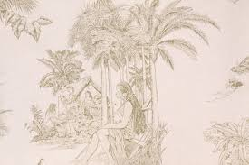 Linen Drapery Tropical Fabrics And Wallcoverings By Ginny Stine New World Toile
