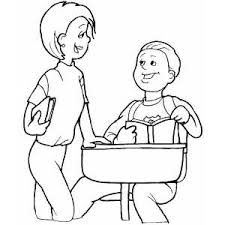 students talking coloring page