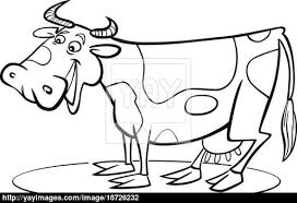 cartoon cow coloring page image yayimages com