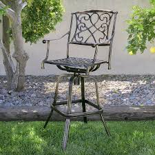 Herrington Patio Furniture by Amazon Com Best Choice Products Outdoor Cast Aluminum Swivel Bar