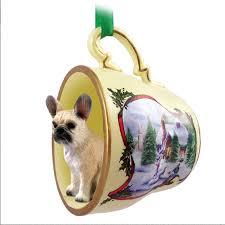 bulldog ornament figurine teacup fawn
