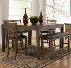 rug for kitchen table dining room modern room with bench brown
