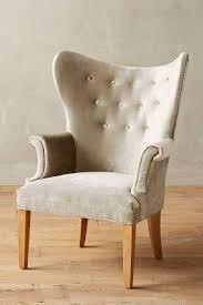 Velvet Wingback Chair Pearl Velvet Wingback Chair