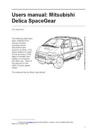 mitsubishi delica user manual spacegear 1997 e12 manual