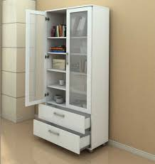 Bookcase With Doors White White Bookcase With Doors To Provides A Look And