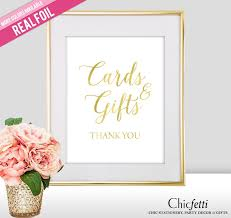 sign a wedding card cards and gifts wedding sign real gold foil gold foil