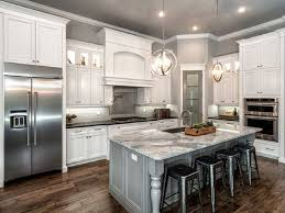 kitchen cabinet and countertop ideas l shaped kitchen remodel with white cabinet and gray island