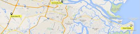 Savannah Ga Map Tybee Island Hotel Hotel Tybee