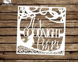 papercut template cut your own papercutting fathers day gift