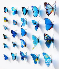 Diy Butterfly Decorations by Aliexpress Com Buy Nai Yue New Colorful 3d Butterflies Room Wall