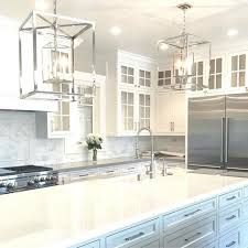 Modern Pendant Lights For Kitchen Island Attractive Lantern Pendant Light Over Island Over Clear Glass