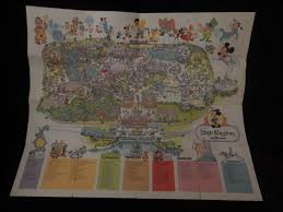 Magic Kingdom Disney World Map by Vintage 1979 Guide To The Magic Kingdom Walt Disney World Park