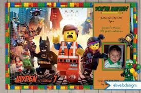 the lego movie birthday invitation printable file