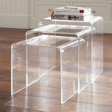 cb2 acrylic nesting tables contemporary acrylic nesting tables pbteen with table ideas 4