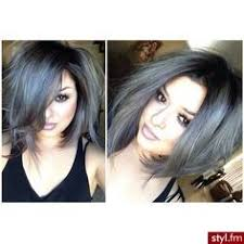 pictures of womens short dark hair with grey streaks silver and gray short hair with dark tips google search hair