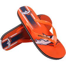 denver broncos sandals broncos flip flops nflshop com