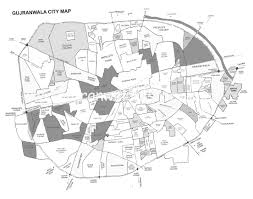 Louisiana Map With Cities And Towns by Gujranwala U2013 Gujranwala City Detail Map U2013 Mohallahs Streets