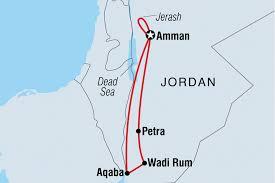 Dead Sea Map Jordan Discovery Jordan Tours Intrepid Travel Au