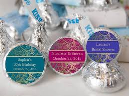 peacock favors peacock wedding hershey s kisses labels stickers pavia party favors