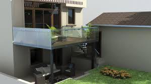 Glass Awning Design The Reno Coach Passive House Project In Toronto Back Yard Deck