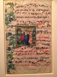 Review  An Illumination  the Rothschild Prayer Book  amp  other works     Denise M Taylor Nearby  under glass  is a leaf from a choir book dating from the same period  This illumination is attributed to Joannes Zmiley de Pisek  one of the most
