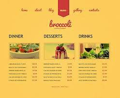 photoshop menu template cafe restaurant website template 39062 website templates zeronese