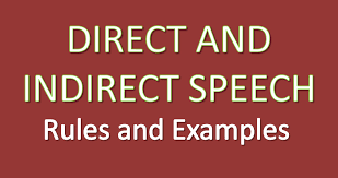 direct and indirect speech rules and examples youtube