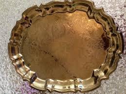 engraved platters vintage gold engraved platter a in bloom event floristry