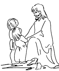 jesus clipart for kids black and white collection