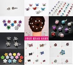 2017 tiny small hair clip crystal rose butterfly hair grip fashion