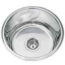 Kitchen Sinks Round Undermount Polished Stainless Steel Bowl LA - Kitchen bowl sink