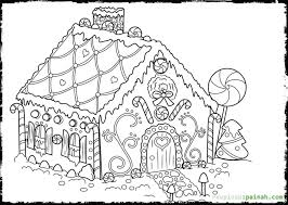 printable gingerbread house coloring pages kids bkj66