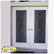 Etched Glass Exterior Doors Glass Front Entry Doors With Aquatic Themes