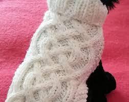 knit dog sweater etsy