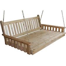 pine traditional english swing bed outdoors pinterest