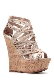 laser cut curves ahead cork wedges cicihot wedges shoes