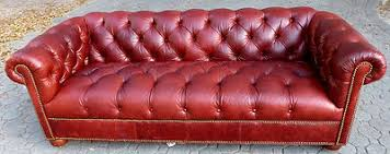 Ethan Allen Chesterfield Sofa Ethan Allen Leather Sofa Burgundy Chesterfield Tufting