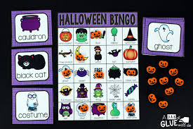 Free Printable Halloween Bingo Cards With Pictures Holiday Bingo Bundle A Dab Of Glue Will Do