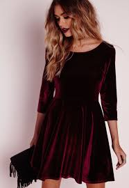 velvet dress we can t wait to get our on this show stopping velvet skater