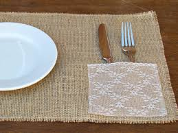 burlap placemats with lace napkin silverware holder ashley u0027s