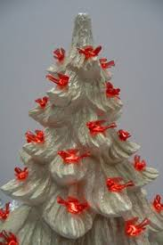 vintage ceramic christmas tree with light 8 inches by brixiana