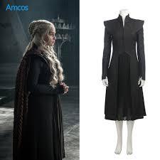game of thrones season 7 dress black coat daenerys targaryen