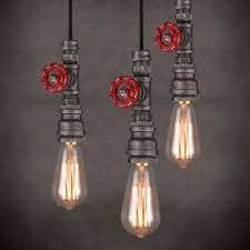 industrial pipe light fixture loft style edison vintage pendant l industrial light fixtures