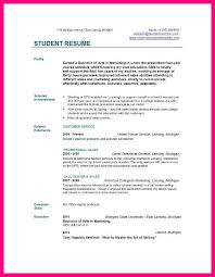 Scholarship Resume Template College Student Resume Sample Example Of College Student Resume