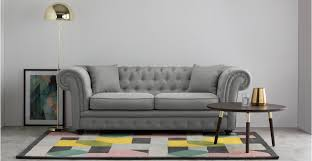 Chesterfield Sofa Branagh 2 Seater Chesterfield Sofa Pearl Grey Made
