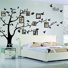 X DIY Family Tree Wall Art Stickers Removable Vinyl Black