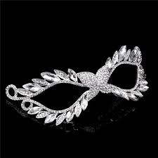 silver masks mask european and american rhinestone alloying imperial crown